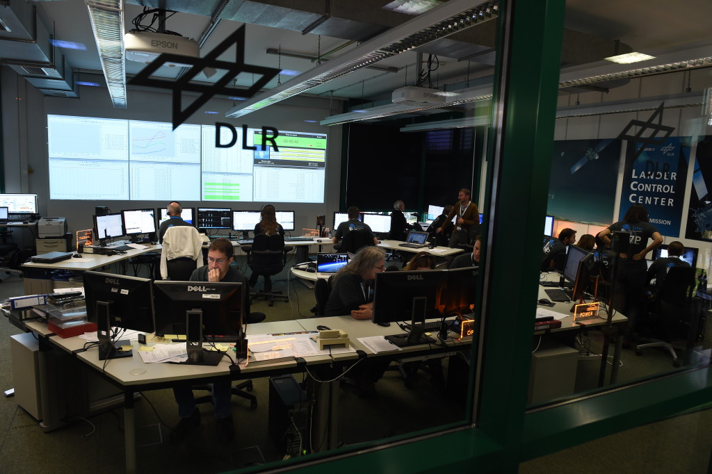 Control center for Philae. Image Credit: DLR