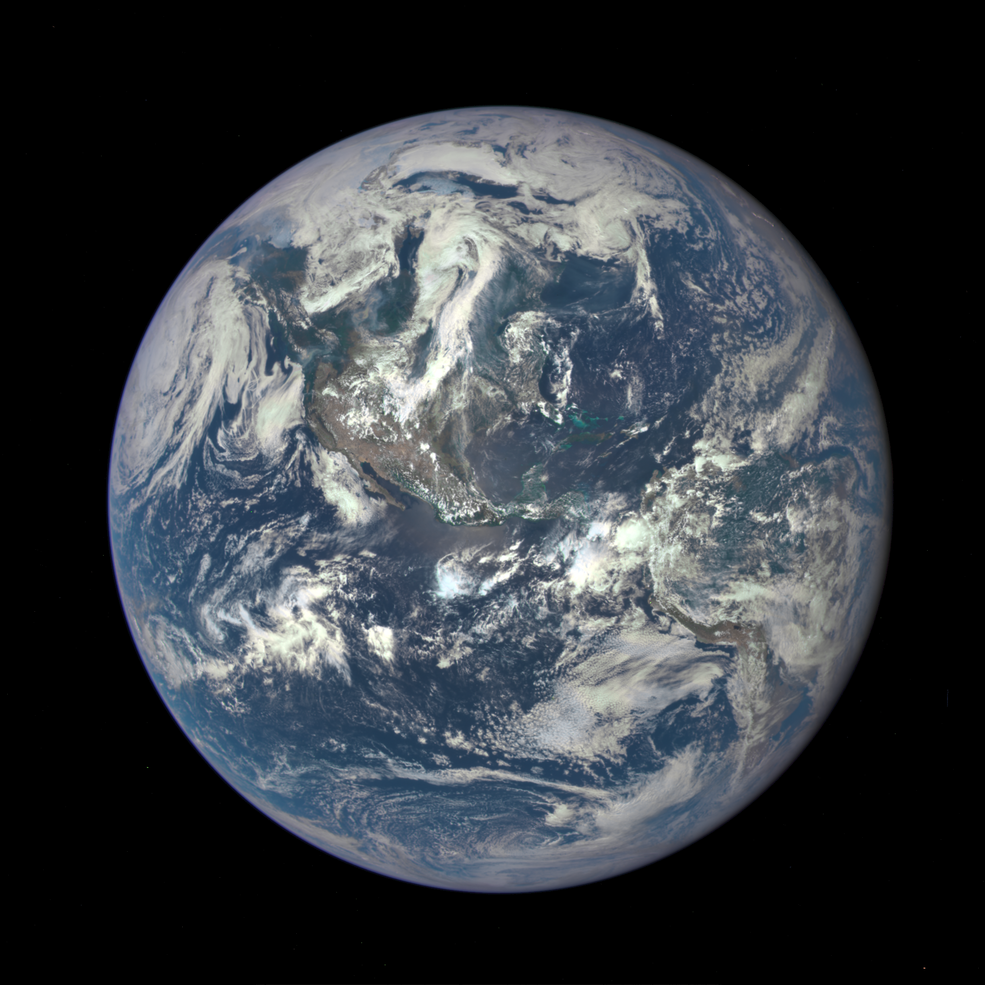 Earth as seen on July 6, 2015 from a distance of one million miles by a NASA scientific camera aboard the Deep Space Climate Observatory spacecraft. Image Credit: NASA