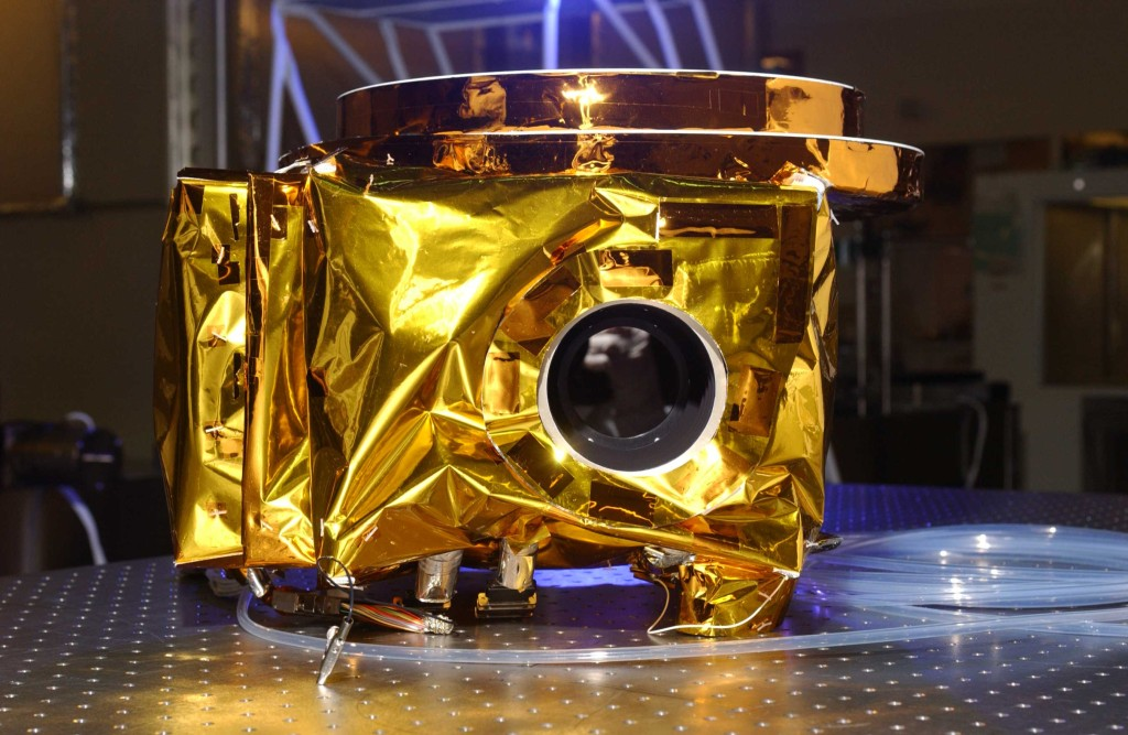"Aboard the New Horizons spacecraft, Ralph is a powerful visible imager and infrared spectrometer paired with ultraviolet spectrometer Alice - a nod to the 1950s sitcom, ""The Honeymooners."" Image Credit: Ball Aerospace"