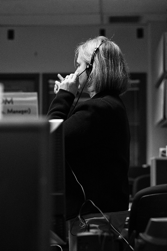 "Alice Bowman, the Mission Operations Manager, at work in the Mission Operations Center. On the job, Bowman is the ""MOM"" of the MOC. Image Credit: Michael Soluri"
