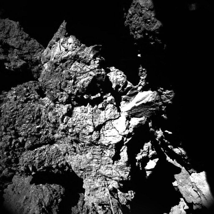 CIVA camera 4 view. Image Credit: ESA/Rosetta/Philae/CIVA