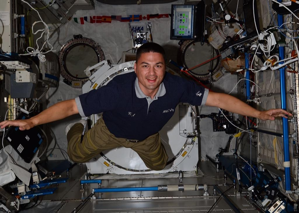 Kjell Lindgren on the International Space Station. Image Credit: NASA
