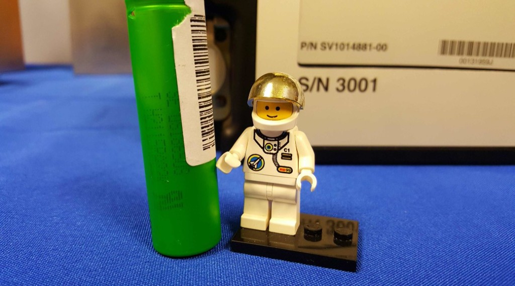 """LEGO spaceman and the """"larger-than-life"""" batteries."""