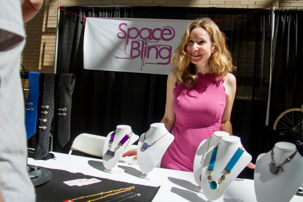 Susanna Speier presenting SpaceBling at the Denver Mini Makers Fair. Image Credit: Kevin Beaty