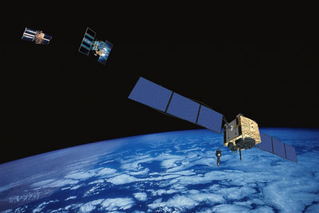 Global Positioning System satellites I, II and IIF. Image Credit: Boeing