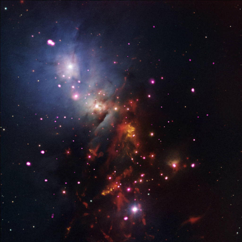 Image credit: X-ray: NASA/CXC/SAO/S.Wolk et al; Optical: DSS & NOAO/AURA/NSF; Infrared: NASA/JPL-Caltech