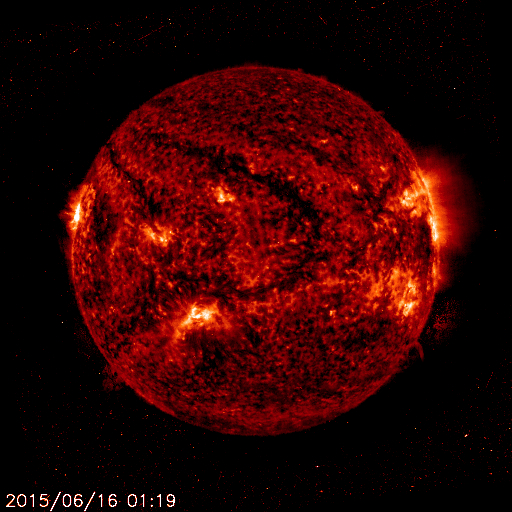 This is how the Sun looked in ultraviolet light to NASA's SOHO spacecraft on June 16, 2015, when New Horizons observed the Sun at similar ultraviolet wavelengths. Image Credit: NASA
