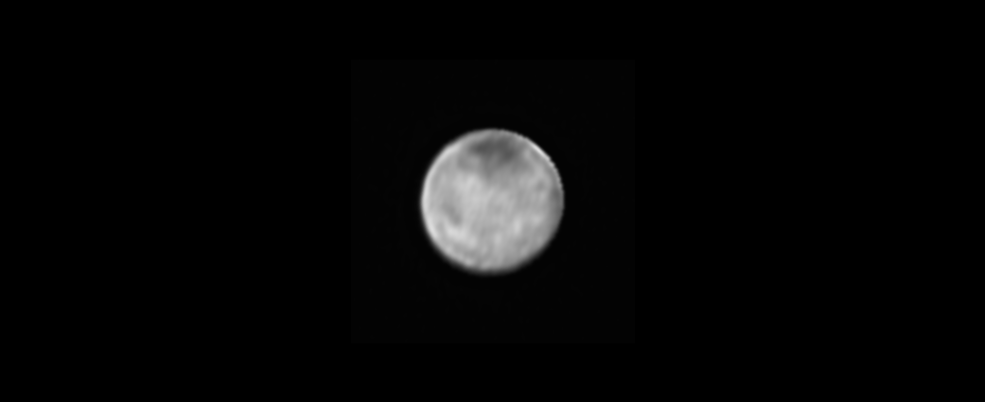 Image of Charon only from the New Horizons' Long Range Reconnaissance Imager (LORRI), July 8, 2015. Image Credit: NASA-JHUAPL-SWRI
