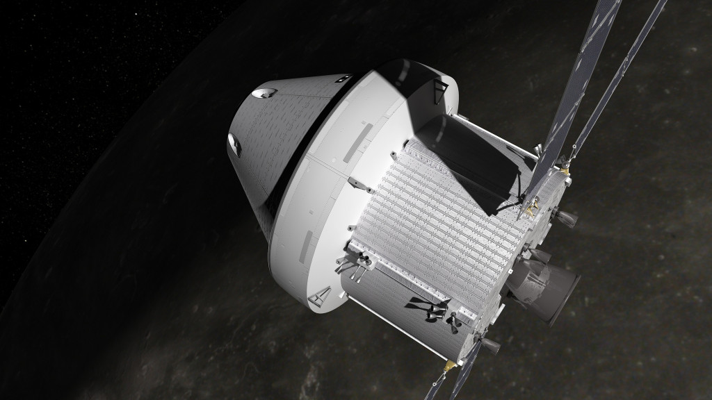 A visualization of Orion with the ESA Service Module. Image Credit: NASA