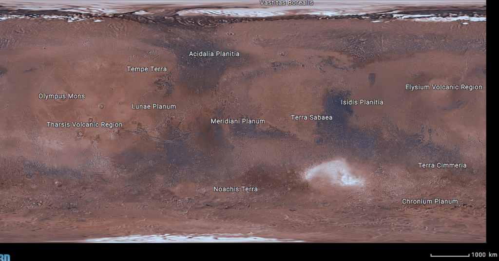 A screen capture from NASA's new Mars Trek site. Image Credit: NASA