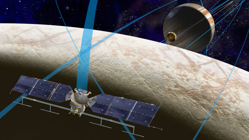 Artist's rendering of NASA's Europa mission spacecraft. Image Credit: NASA/JPL-Caltech