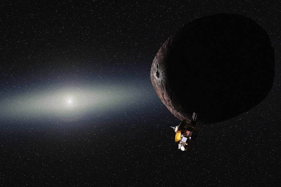 Artist's impression of NASA's New Horizons spacecraft encountering a Pluto-like object in the distant Kuiper Belt. Image Credit: NASA/JHUAPL/SwRI/Alex Parker