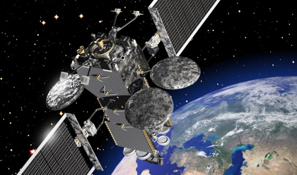 Hellas-Sat-4/SaudiGeoSat-1 will carry Lockheed Martin's flexible payload. The technology gives the satellite security and reprogrammable capabilities in orbit. Image Credit: Lockheed Martin