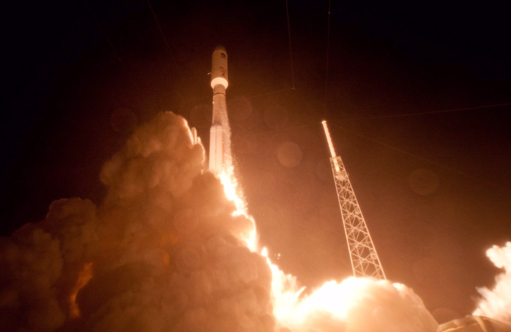 MUOS-4, the next satellite scheduled to join the U.S. Navy's Mobile User Objective System (MUOS) secure communications network, launched this morning from Cape Canaveral Air Force Station, Florida and is responding normally to ground control. Image Credit: Lockheed Martin