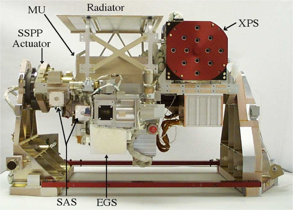 The Solar Extreme Ultraviolet Experiment (SEE) is comprised of a spectrometer and a suite of photometers designed to measure the solar soft X-rays, extreme-ultraviolet and far-ultraviolet radiation that is deposited into the MLTI region. Image Credit: LASP