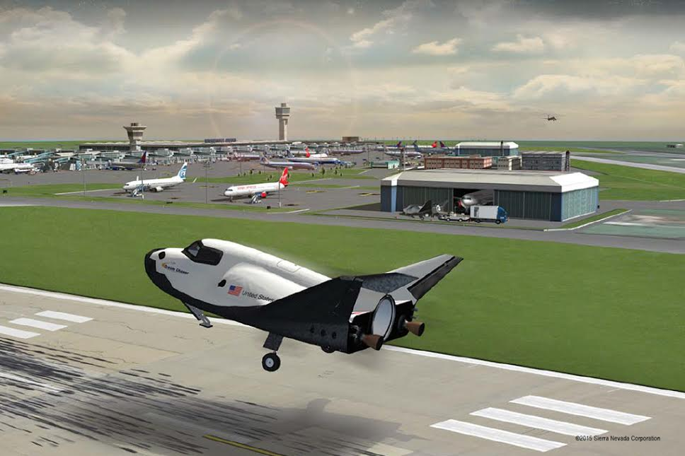 SNC's Dream Chaser spacecraft commercial runway landing. Image Credit: SNC