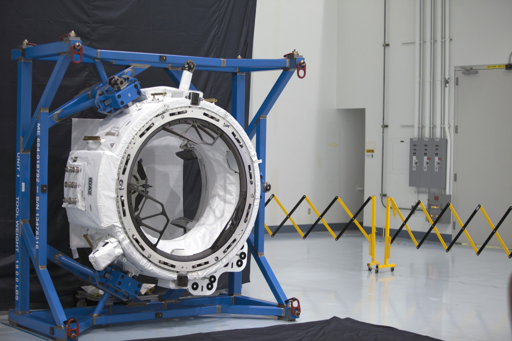 Engineers in the Space Station Processing Facility at NASA's Kennedy Space Center, Florida, recently tested the mechanisms that will connect future commercial crew spacecraft with the second International Docking Adapter. Image Credit: NASA/Charles Babir