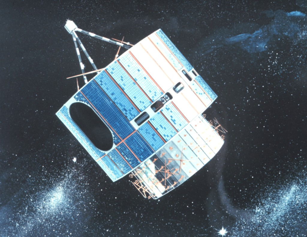 GOES-1 was launched 40 years ago today, on October 16, 1975. Image Credit: NOAA