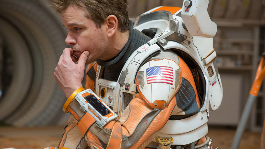 "Actor Matt Damon plays NASA astronaut Marc Watney in ""The Martian."" Image Credit: Giles Keyte"