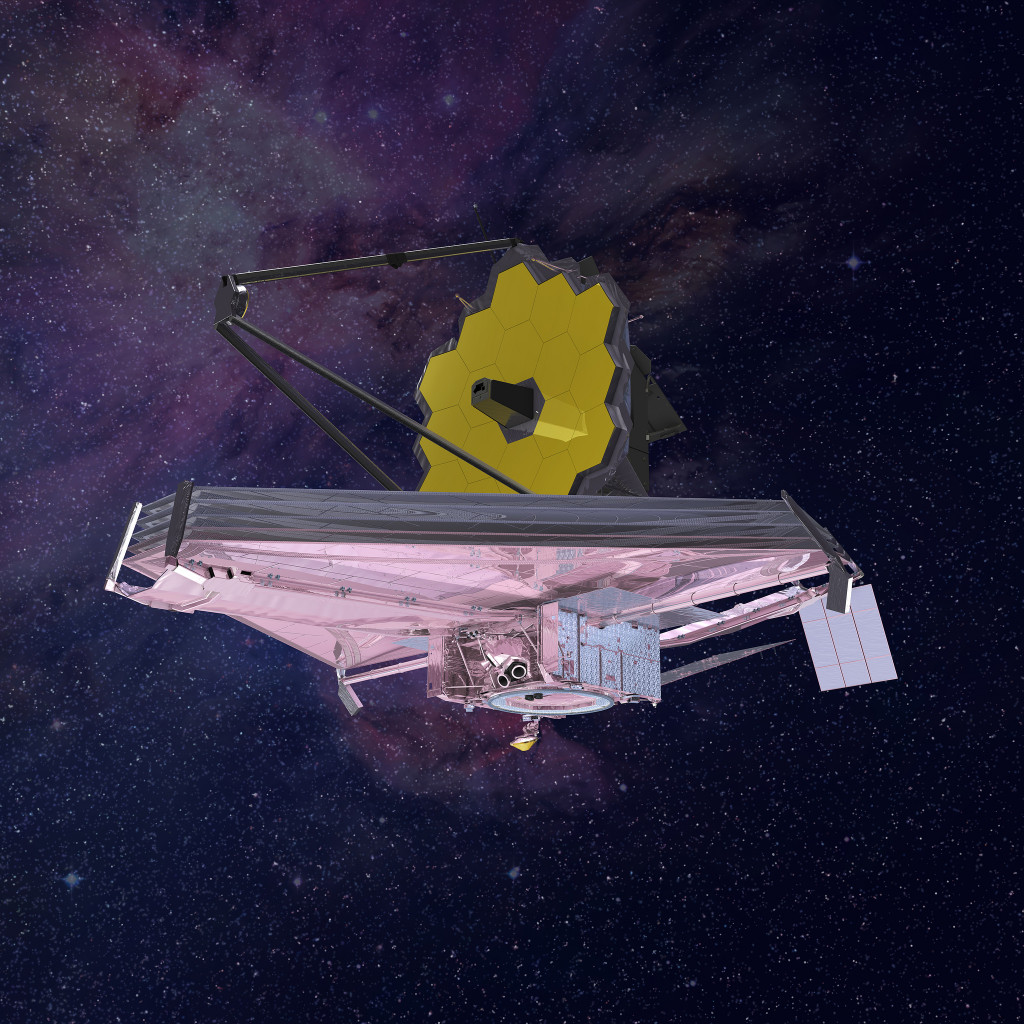 Artist's rendering of the James Webb Space Telescope. Image Credit: Northrop Grumman