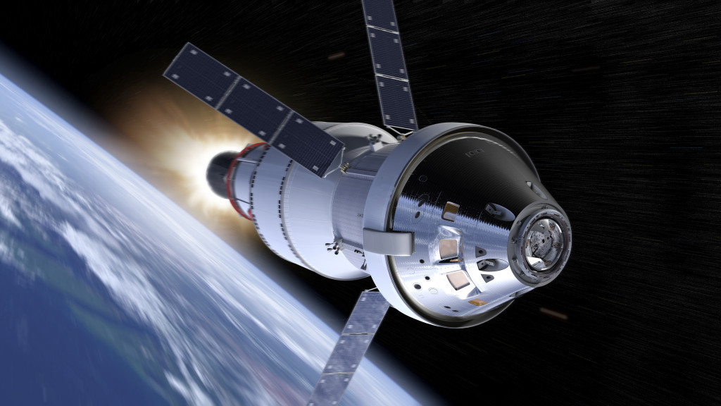 During Exploration Mission-1, Orion will venture thousands of miles beyond the moon during an approximately three week mission. Image Credit: NASA