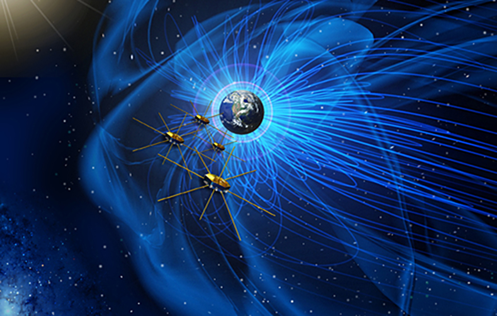 Artist's rendering of the satellites with the FEEPS instruments aboard. Image Credit: NASA