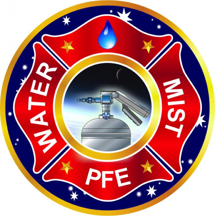 ISS water-mist portable fire extinguisher project logo. Image Credit: Colorado School of Mines