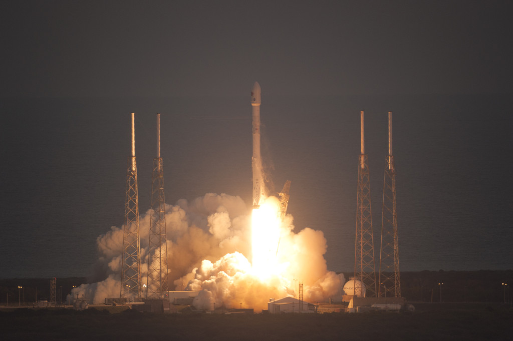 DSCOVR successfully launched on Feburary 11, 2015 from Cape Canaveral, Florida. It took the satellite just over 100 days to reach its final orbit at Lagrange point 1.  Image Credit: NOAA