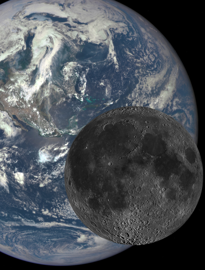 Scientists at Southwest Research Institute combined dynamical, thermal, and chemical Moon formation models to explain key differences between the composition of lunar rocks and the Earth's. The Moon's lack of easily vaporized elements provides evidence about how the Earth-Moon system formed 4.5 billion years ago. Image Credit: NASA/SwRI