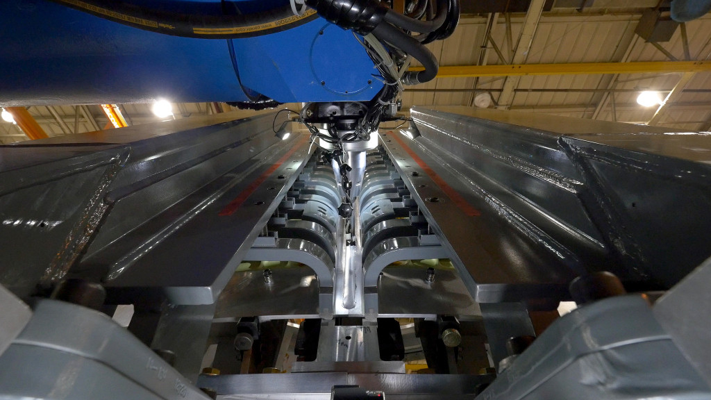 At NASA's Michoud Assembly Facility in New Orleans, engineers used large tooling structures to help them weld together Orion's cone panels using a process called friction-stir welding. Image Credit: NASA