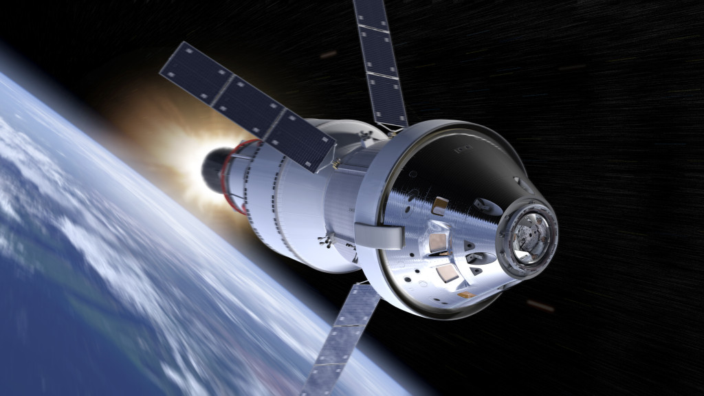 NASA's Orion spacecraft will be the exploration vehicle that will carry humans farther into space than ever before, provide emergency abort capability, sustain the crew during the space travel, and provide safe re-entry from deep space return velocities. Image Credit: NASA