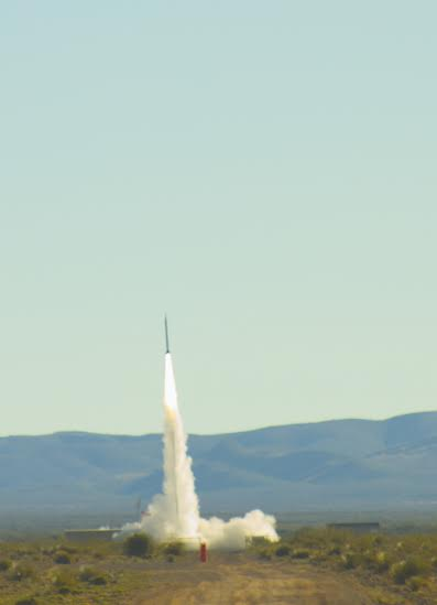 Successful launch of UP Aerospace SL-10 payload rocket. Image Credit: Spaceport America