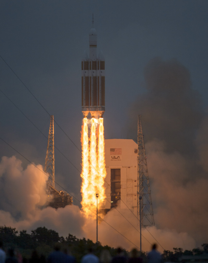 The United Launch Alliance Delta IV Heavy rocket with NASA's Orion spacecraft mounted atop, lifts off from Cape Canaveral Air Force Station's Space Launch Complex 37 at at 7:05 a.m. EST, Friday, Dec. 5, 2014, in Florida. Image Credit: NASA