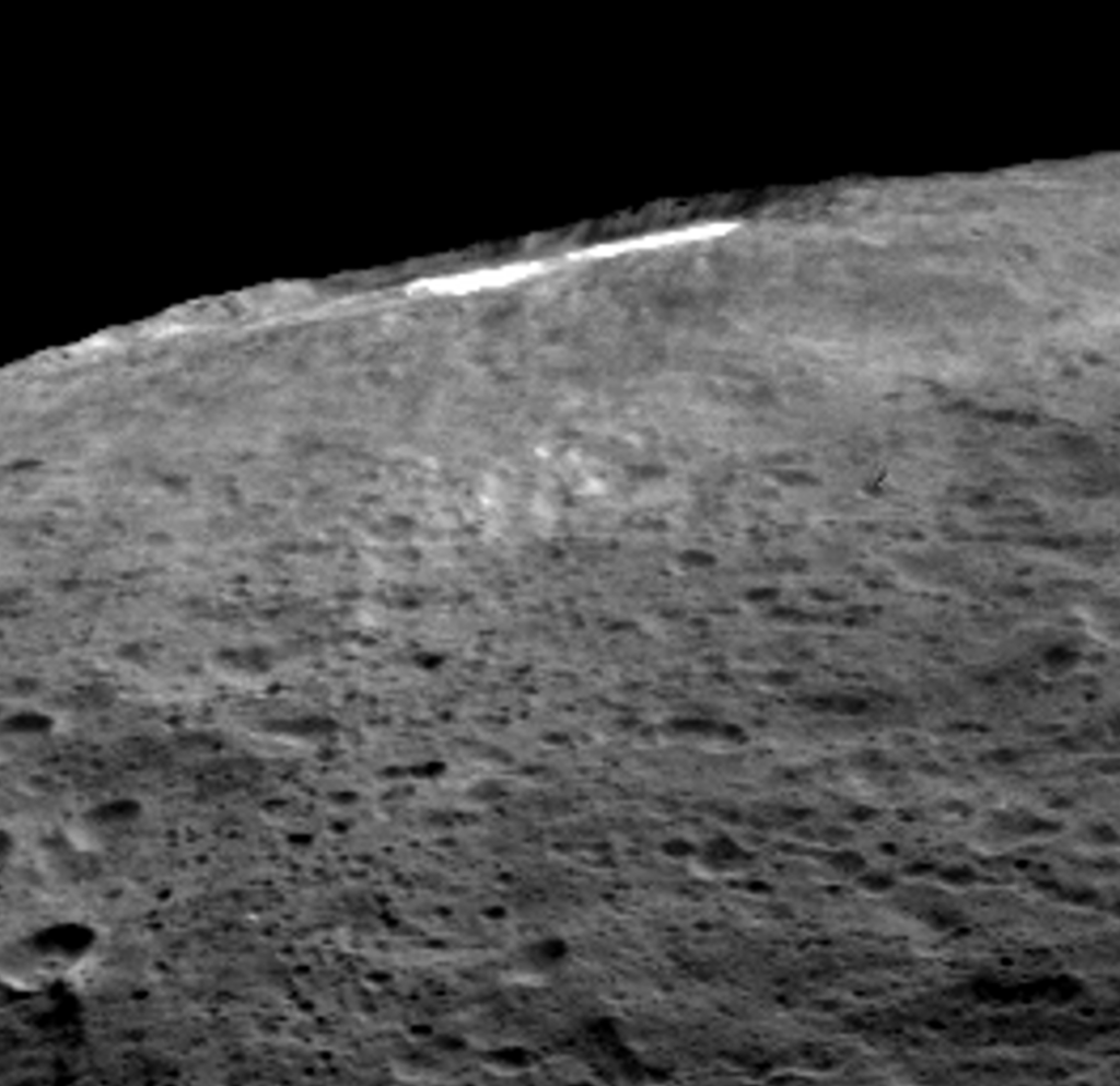 A group of scientists from NASA's Dawn mission suggests that when sunlight reaches Ceres' Occator Crater, a kind of thin haze  of dust and evaporating water forms there. Image Credit: NASA/JPL-Caltech/UCLA/MPS/DLR/IDA