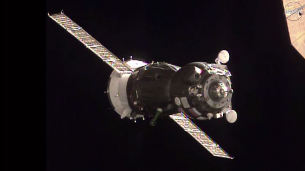 Image Credit: The Soyuz TMA-19M spacecraft approaches the International Space Station with three new Expedition 46-47 crew members. Image Credit: NASA TV