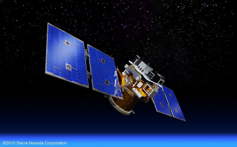 SNC rendering of STPSat-5 satellite in low-Earth orbit. Image Credit: Sierra Nevada Corporation