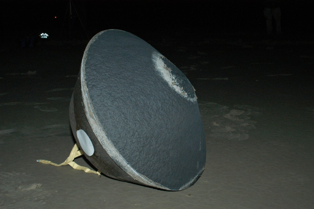 The sample return capsule from NASA's Stardust mission successfully landed at the U.S. Air Force's Utah Test and Training Range in Dugway, Utah, at 2:10 a.m. Pacific (3:10 a.m. Mountain) on January 15, 2006. The capsule carried cometary and interstellar samples gathered by the Stardust spacecraft. Image credit: NASA
