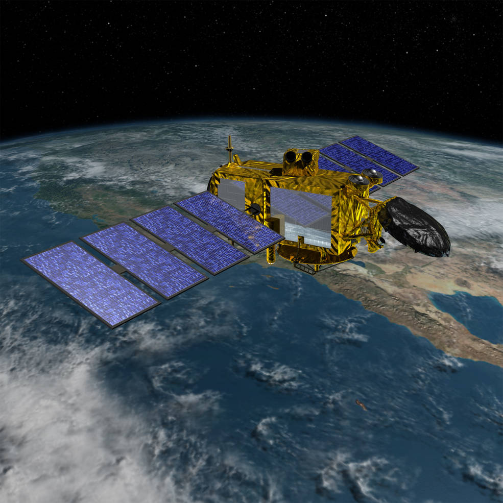 Jason-3, a collaborative effort between NOAA, NASA, Centre National d'Etudes Spatiales, France's space agency, and the European Organization for the Exploitation of Meteorological Satellites, will continue the ability to monitor and precisely measure global sea surface heights, monitor the intensification of tropical cyclones and support seasonal and coastal forecasts. Image Credit: NASA