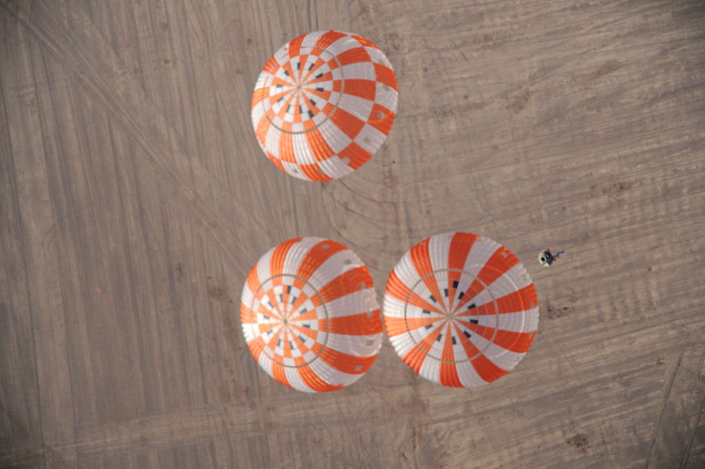 Engineers developing Orion's parachutes will put the system to the test in the Arizona skies. Image Credit: NASA