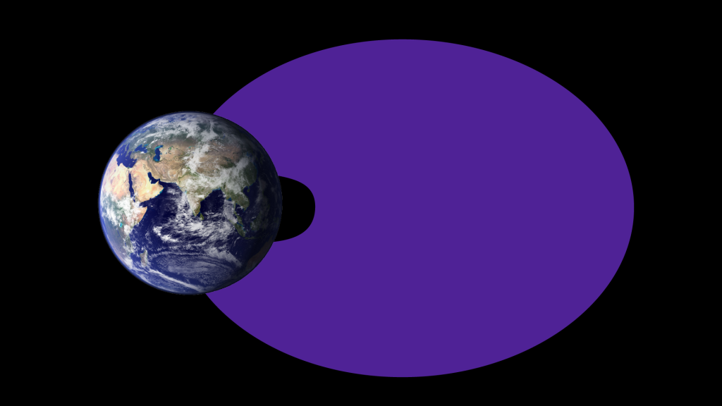 Illustration) During geomagnetic storms, the empty region between the two belts can fill in completely with lower-energy electrons. Traditionally, scientists thought this slot region filled in only during the most extreme geomagnetic storms happening about once every 10 years. However, new data shows it's not uncommon for lower-energy electrons — up to 0.8 MeV — to fill this space during almost all geomagnetic storms. Image Credit: NASA Goddard/Duberstein