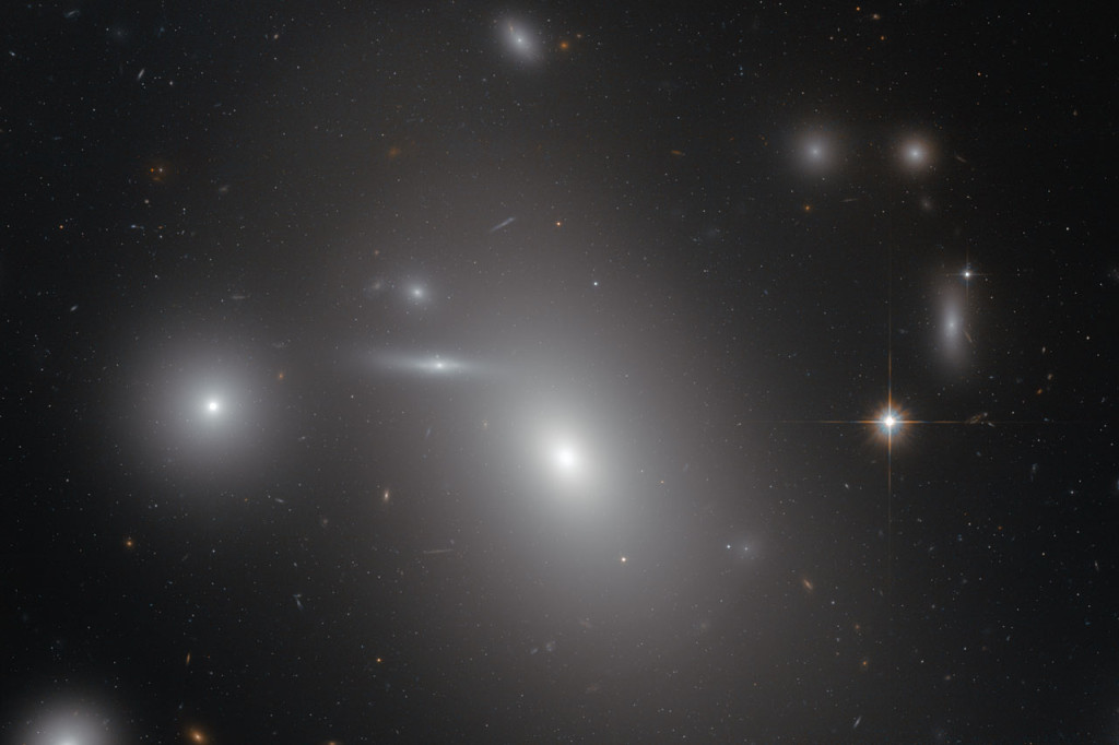 The placid appearance of NGC 4889 can fool the unsuspecting observer. But the elliptical galaxy, pictured in this new image from the NASA/ESA Hubble Space Telescope, harbours a dark secret. At its heart lurks one of the most massive black holes ever discovered. Image Credit: NASA/ESA