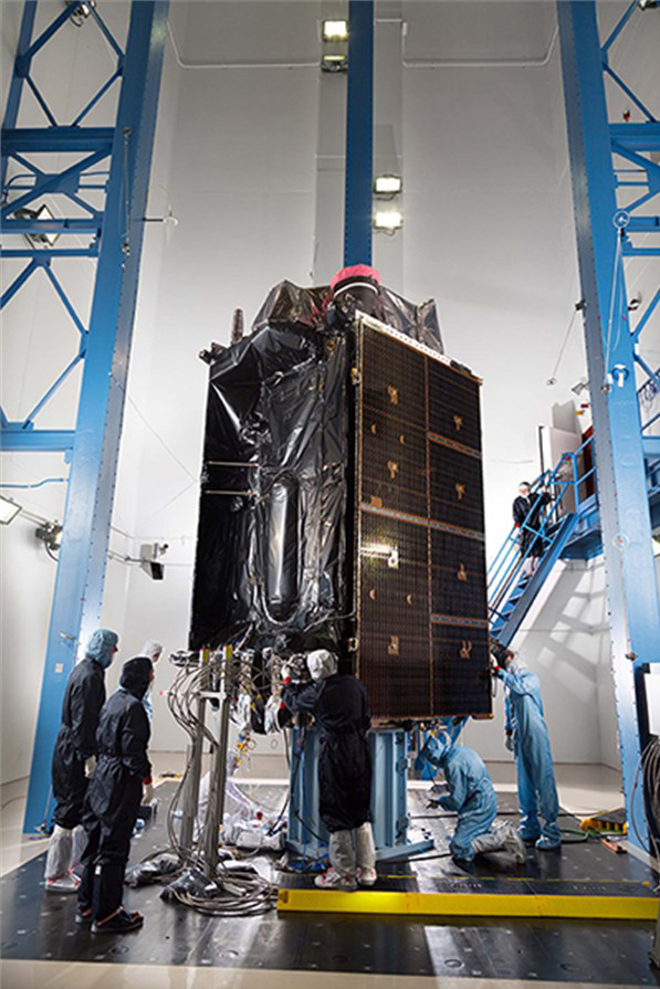 Harris Corporation announced it will offer a fully-digital navigation payload for the next round of U.S. Air Force GPS III satellites. Harris already is providing a 70-percent digital navigation payload to Lockheed Martin for the Air Force's first eight GPS III satellites, including the first GPS III satellite, pictured above in acoustic testing. Image Credit: Lockheed Martin