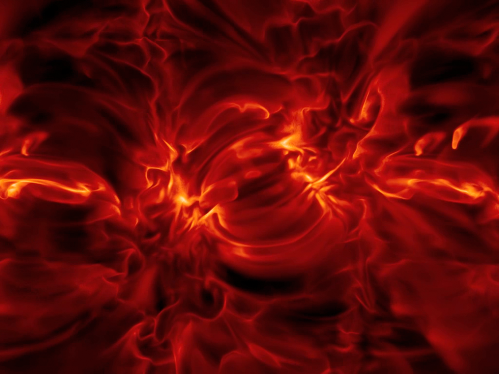 This video snapshot shows a simulated view from the IRIS spacecraft flying above the solar surface at a height of over 6,000 miles, with a filter showing only light emitted by plasma at a temperature of about 35,000 degrees Fahrenheit. The sun's plasma, a superheated mix of charged particles, flows and creates magnetic fields, that move through the surface and extend throughout the solar atmosphere.  The synthetic image is derived from numerical simulations that reveal how the sun's magnetic field structures its atmosphere on fine scales. Image Credit: Mats Carlsson, University of Oslo