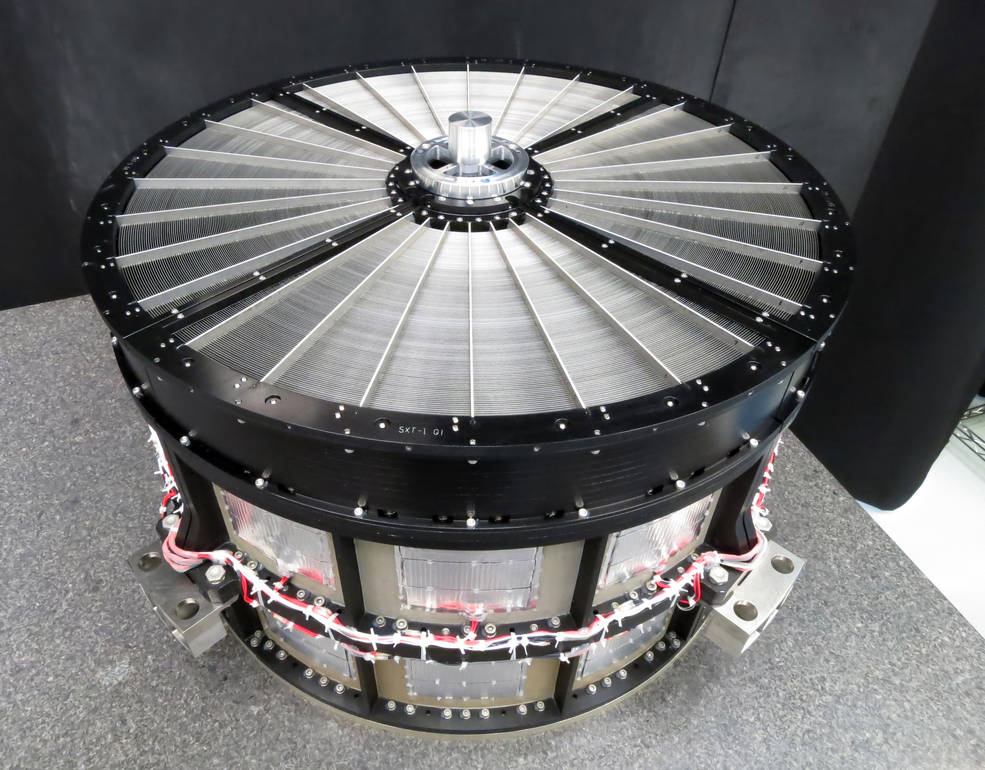 The Goddard team provided identical mirror assemblies for both of the Soft X-ray Telescopes aboard ASTRO-H. Each is 17.7 inches (45 centimeters) across and contains 1,624 precisely aligned aluminum mirror segments arranged in 203 concentric shells. Image Credit: NASA's Goddard Space Flight Center