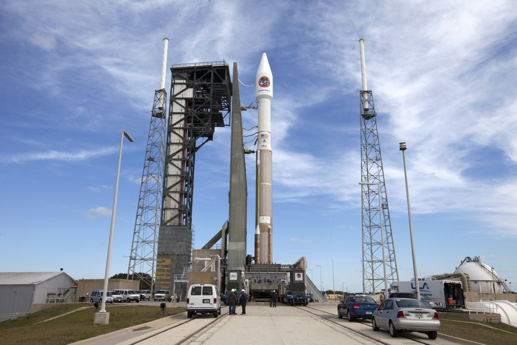 OA-6/Atlas V being rolled out to Pad 41 for launch. Image Credit: NASA/Ben Smegelsky