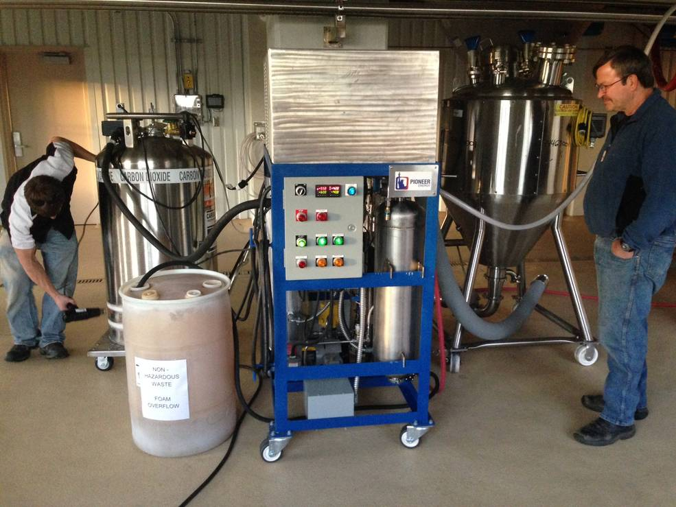 Pioneer Energy's CO2 Craft Brewery Recovery System can recapture about five tons of carbon dioxide per month, enough for a brewery that generates up to about 60,000 barrels per year, and units can be stacked to increase that capacity. Image Credit: Pioneer Energy