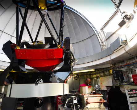 VNIRIS is currently operated with Aerospace's 1-meter telescope and is located in the telescope dome on the roof of Aerospace's Physical Sciences Laboratory in El Segundo.Image Credit: Elisa Haber