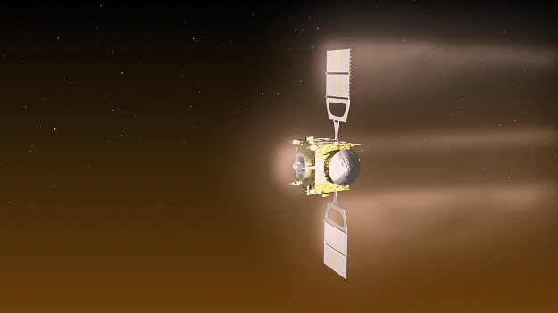 Venus Express aerobraking. Image Credit: ESA–C. Carreau