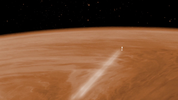 Venus Express aerobraking. Image Credit: ESA/C. Carreau