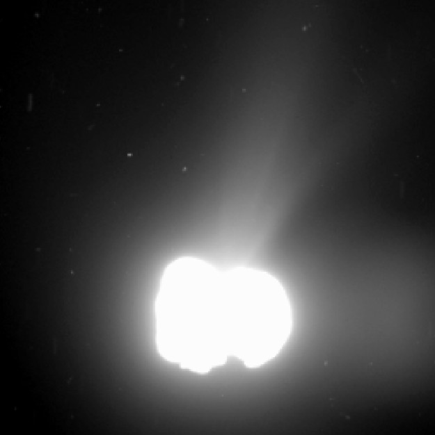 Southwest Research Institute scientists led an international team studying the composition of comet 67P's coma to better understand the ice structures and the possible origin of its nucleus. The team found evidence of water ice clathrates that could indicate the comet formed closer to the Sun than originally thought. Image Credit: ESA/Rosetta/MPS for OSIRIS Team MPS/UPD/LAM/IAA/SSO/INTA/UPM/DASP/IDA